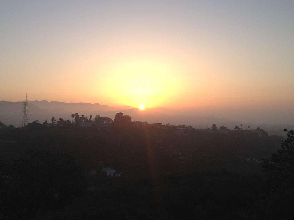 orange grey sunset