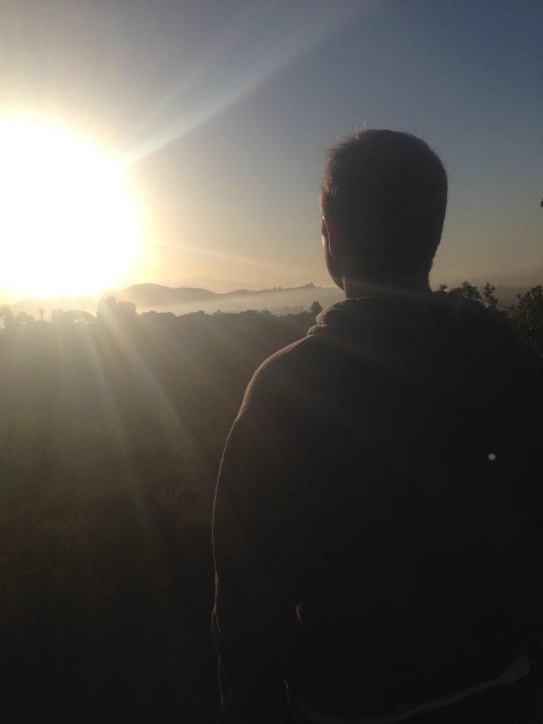 Brian gazing at the sun