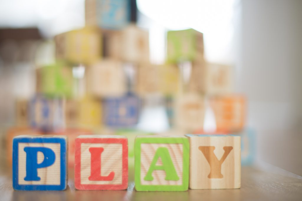"""the word """"play"""" in blocks"""
