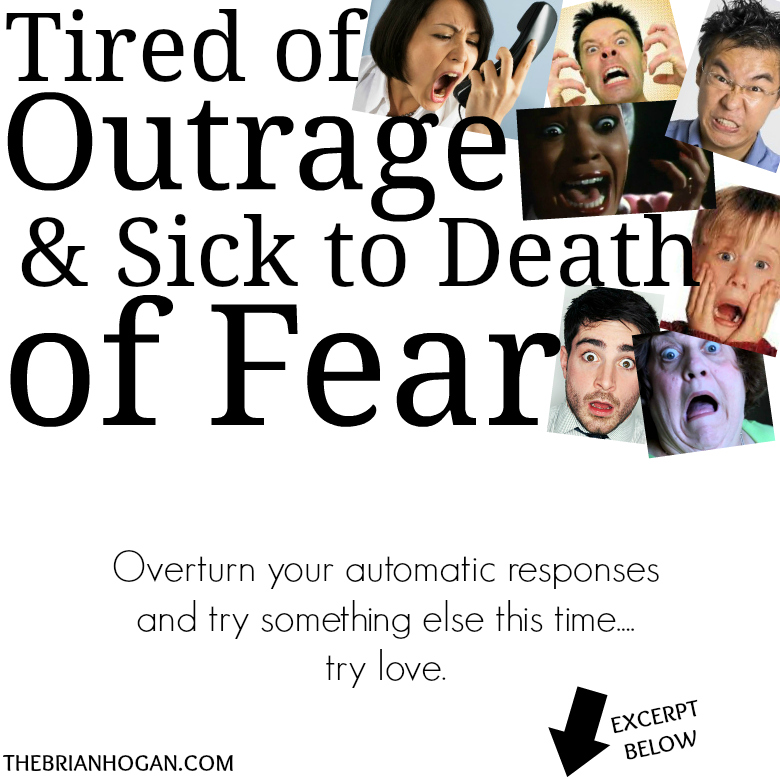 outraged and fearful faces