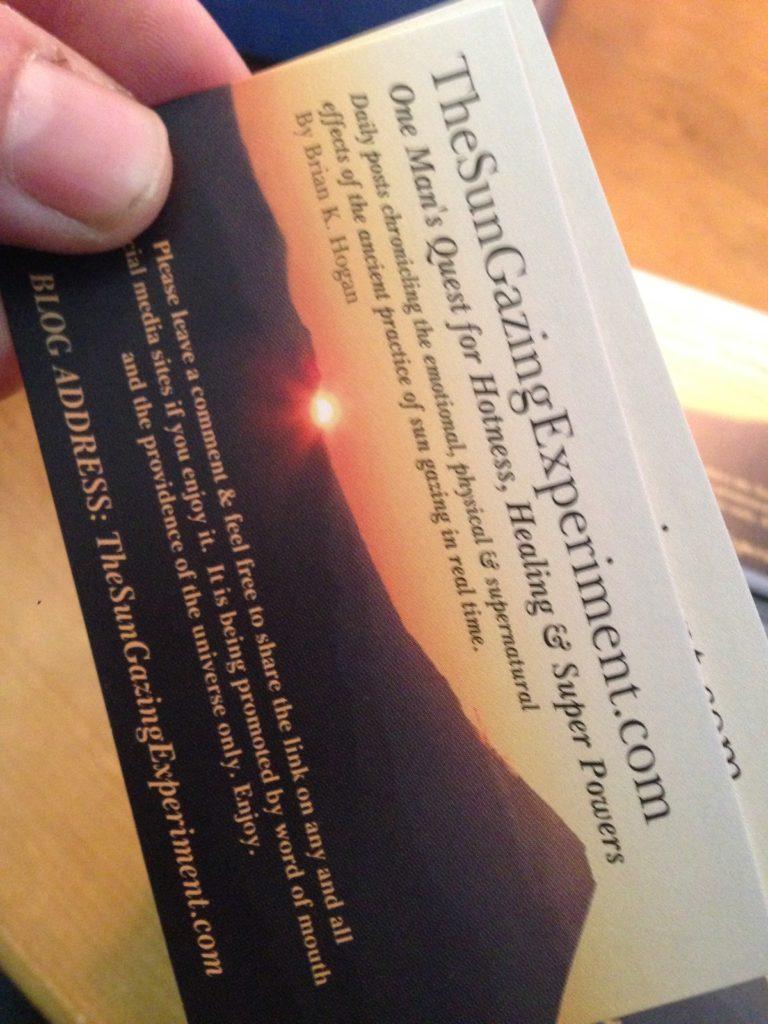 sun gazing business card