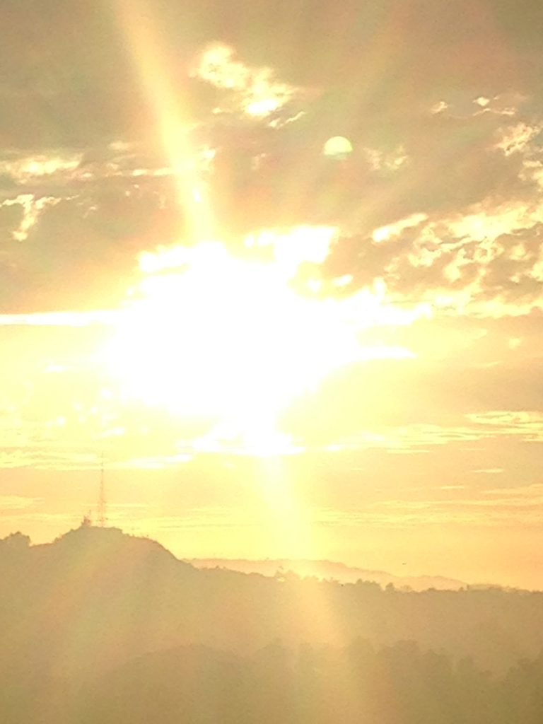 a sunset in LA