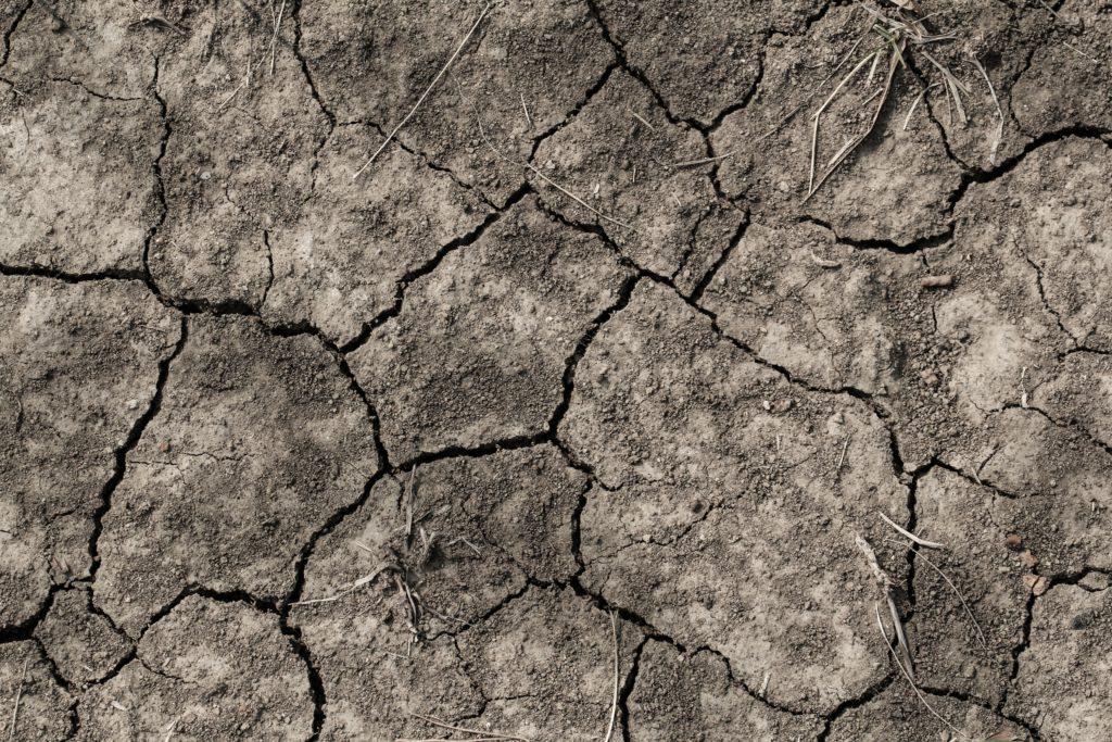 dry broken earth
