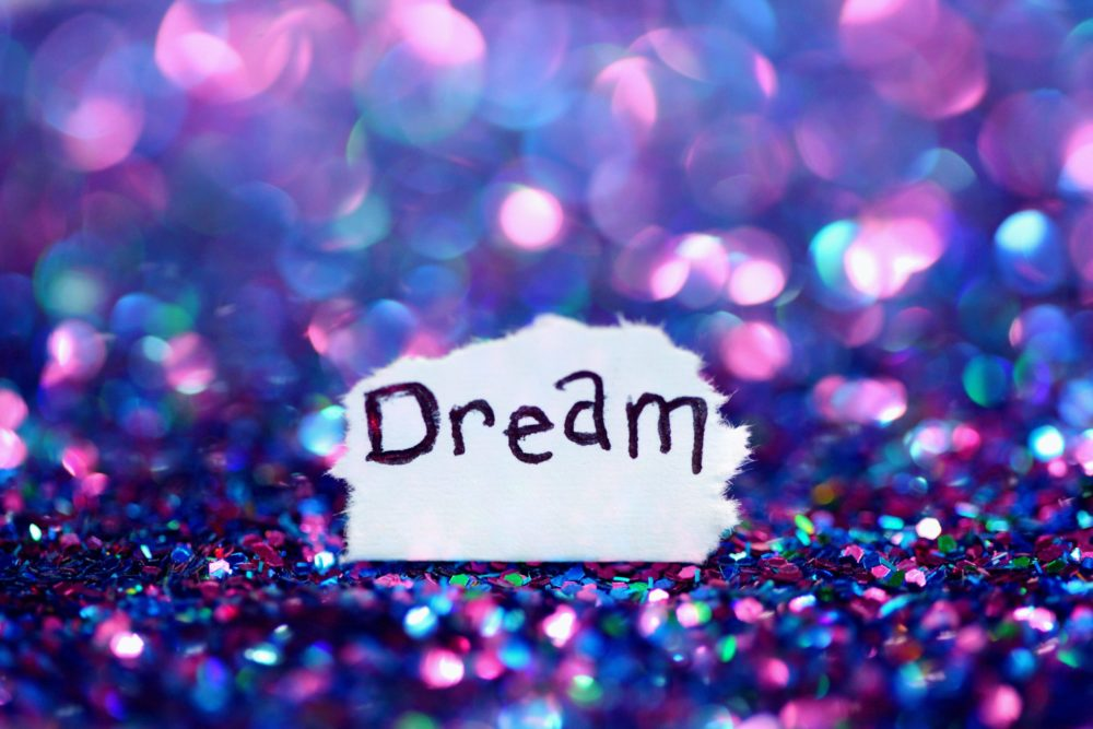"""colorful backdrop with the word """"dream"""""""