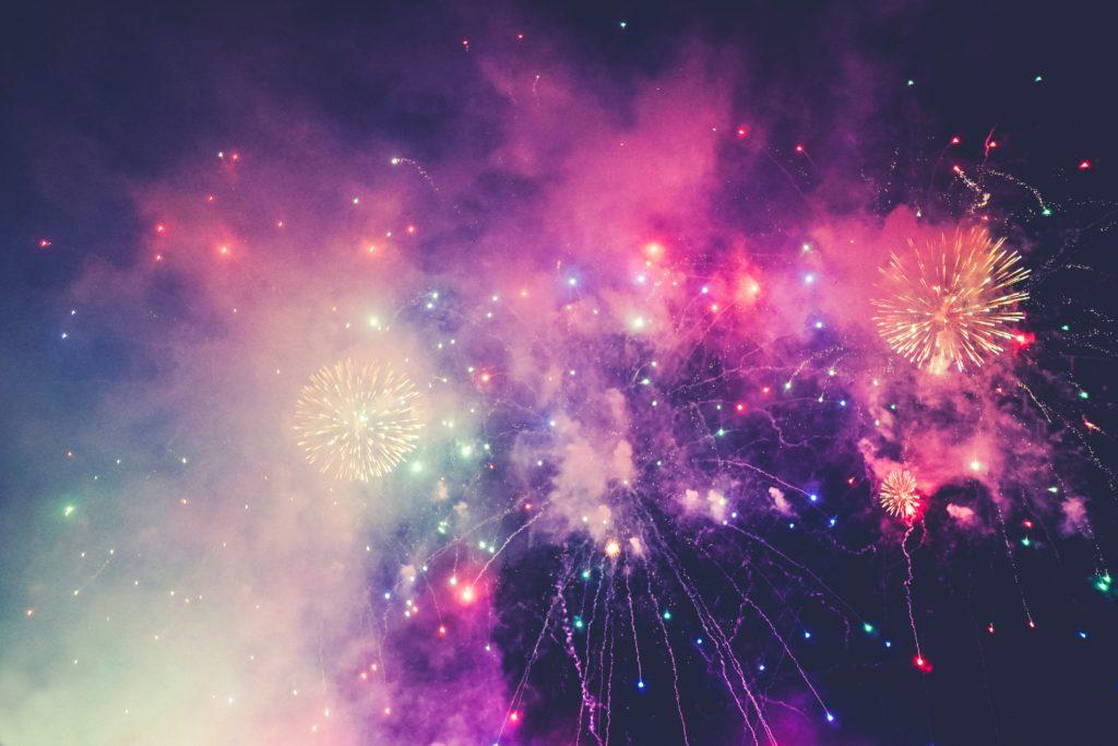 fireworks signifying spontaneous gratitude