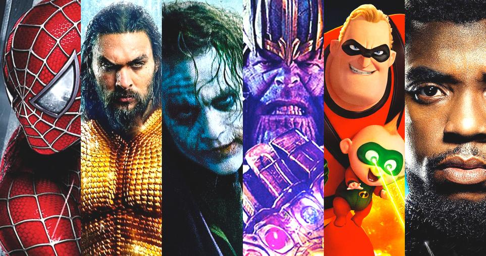 major superhero in six columns