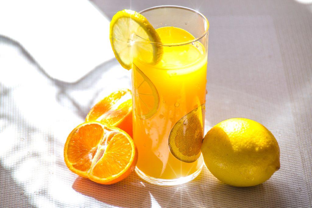 lemonade in a glass