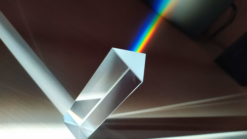prism light refracted