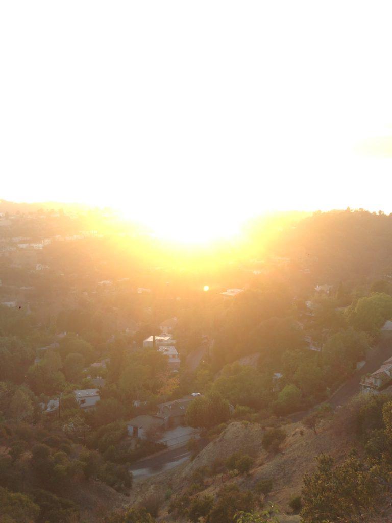 misty LA sun rise