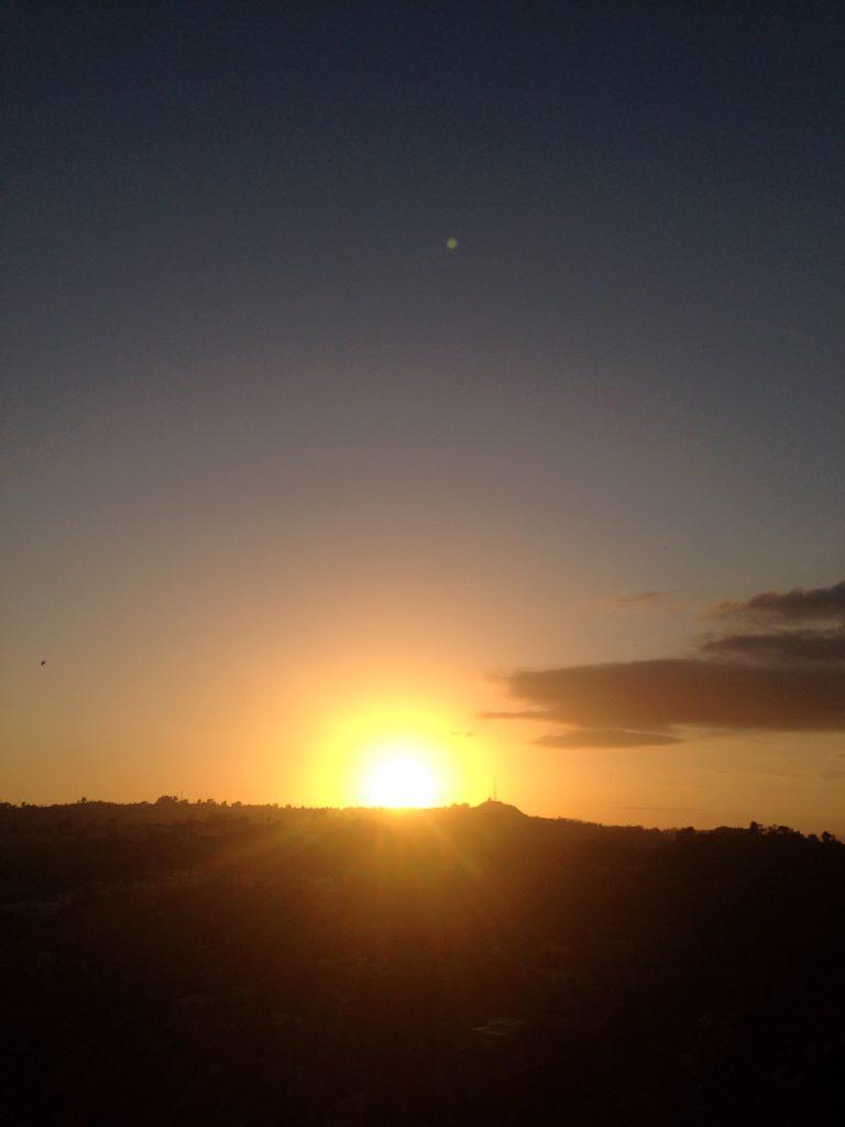 dark orange sunrise