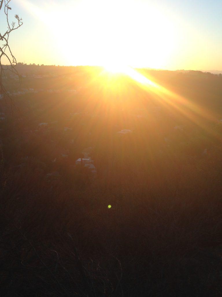 a faded sunrise