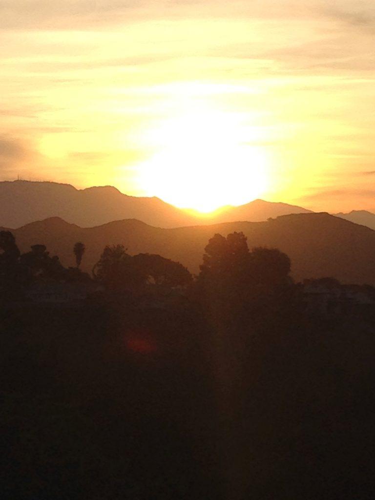 orange sunset LA